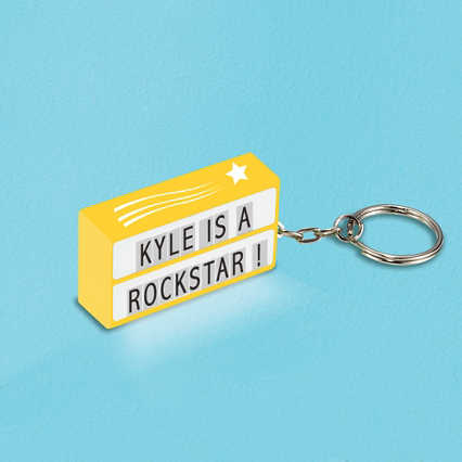 Value Light Box Keychain - Shooting Star - Yellow