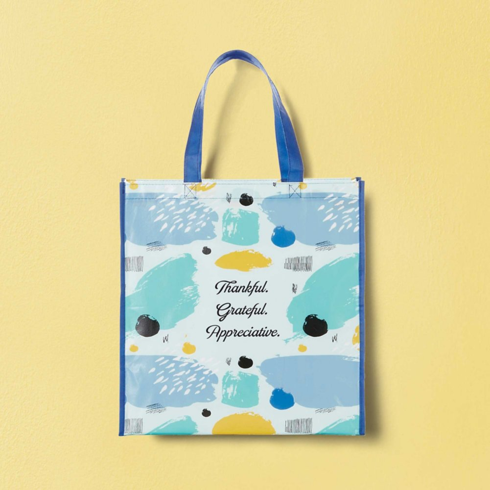 View larger image of Artful Value Shopper Tote - Thankful. Grateful. Appreciative