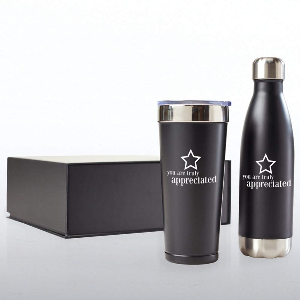 View larger image of Executive Drinkware Gift Set - You Are Truly Appreciated