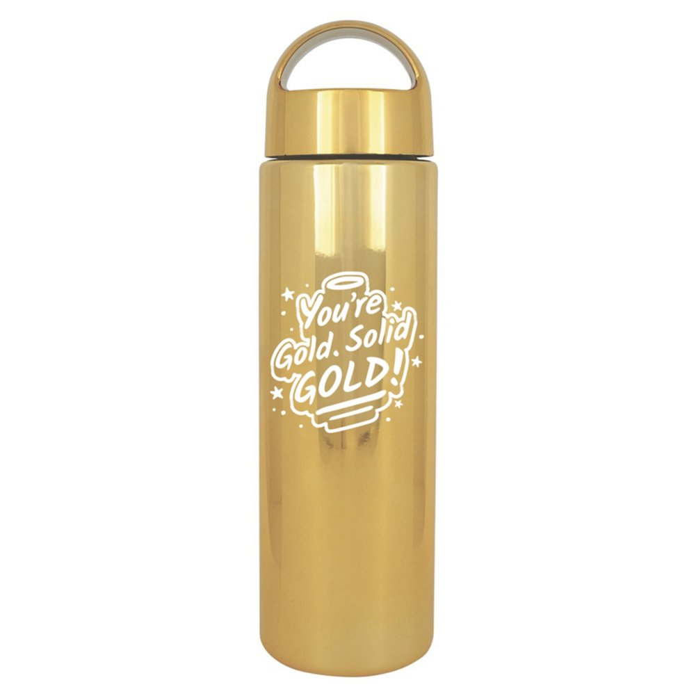 Brilliantly Colored Water Bottle - You're Gold. Solid Gold!