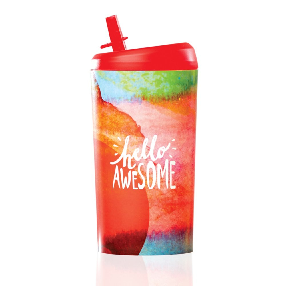View larger image of Value Pop-Top Water Bottles - Hello Awesome