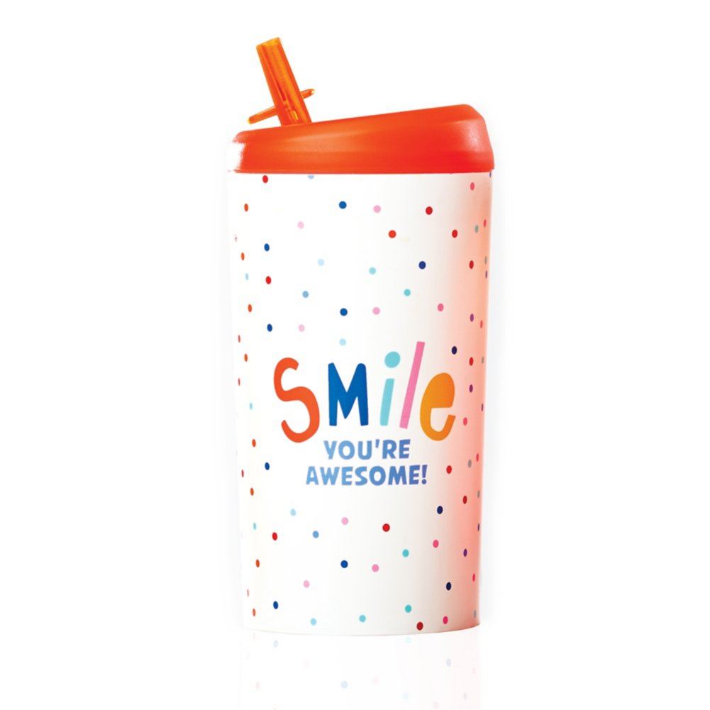 Value Pop-Top Water Bottles - Smile, You're Awesome!