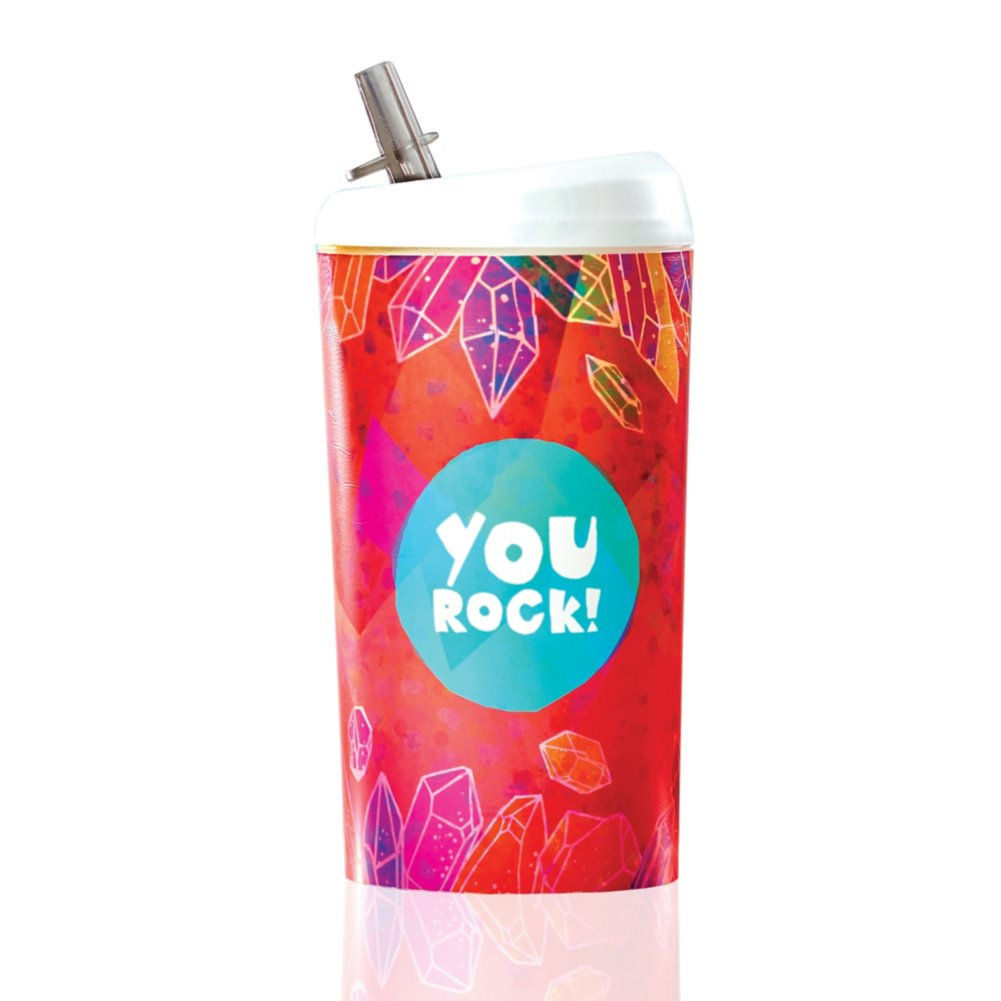 View larger image of Value Pop-Top Water Bottles - You Rock!