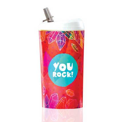 Value Pop-Top Water Bottles - You Rock!