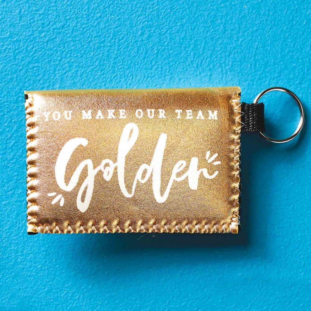 Metallic Card Case - You Make Our Team Golden