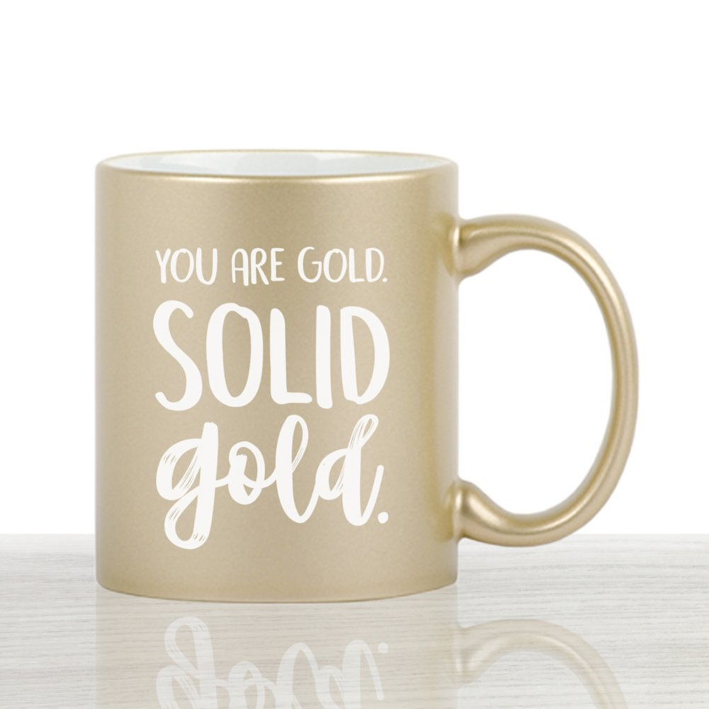 Iridescent Ceramic Value Mug - You Are Gold. Solid Gold.