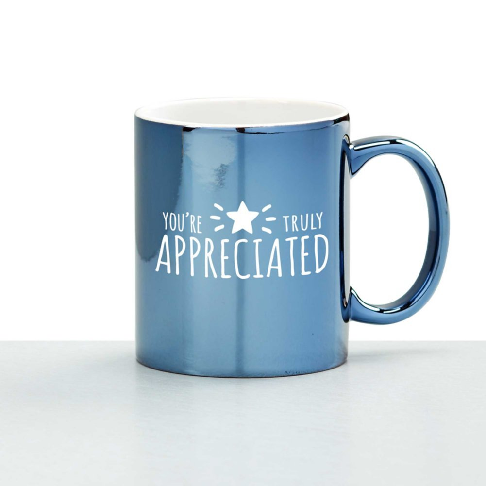 View larger image of Iridescent Ceramic Value Mug - You're Truly Appreciated