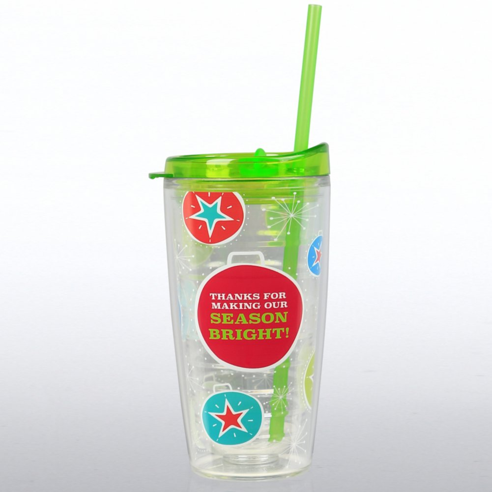 View larger image of Holiday Tritan Tumbler: Thanks for Making Our Season Bright