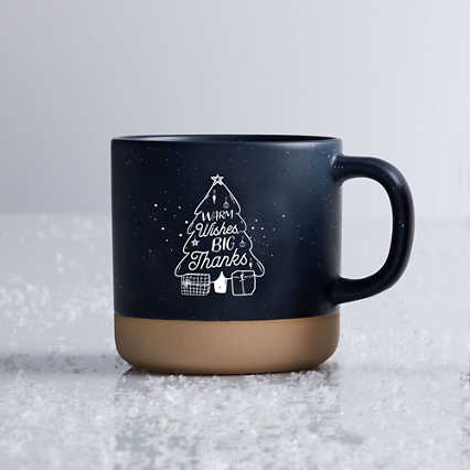 Modern Campfire Mug - Warm, Wishes, Big Thanks