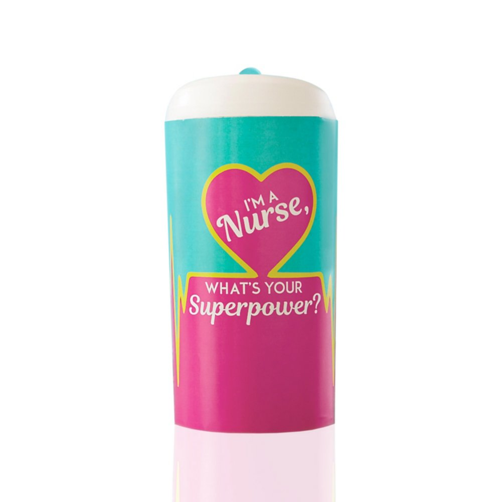 View larger image of Pop-Top Water Bottle - I'm a Nurse, What's Your Superpower
