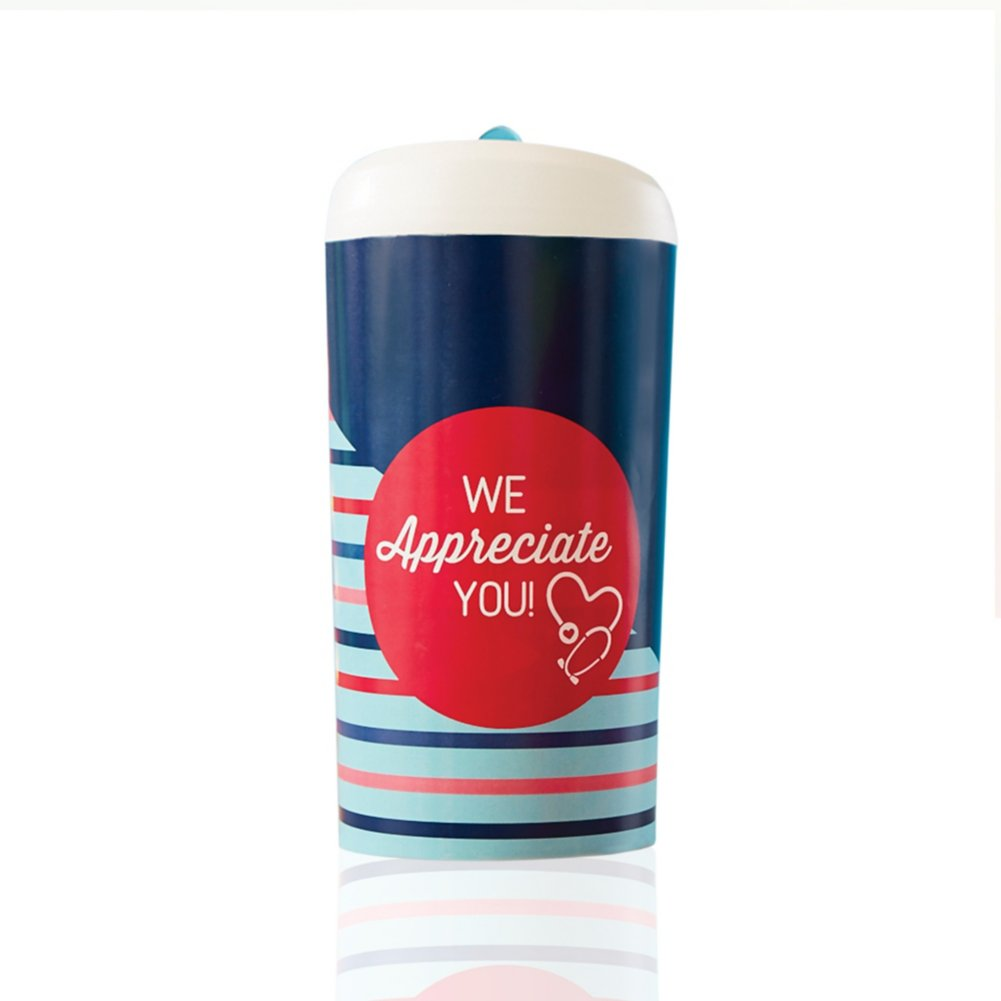 View larger image of Pop-Top Water Bottle - We Appreciate You Stethoscope