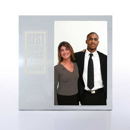 BOSS Engravable Photo Frame - Silver
