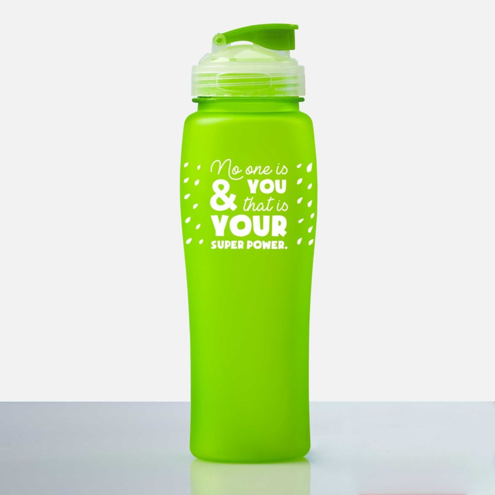 Fluorescent Value Water Bottle - No One Is You