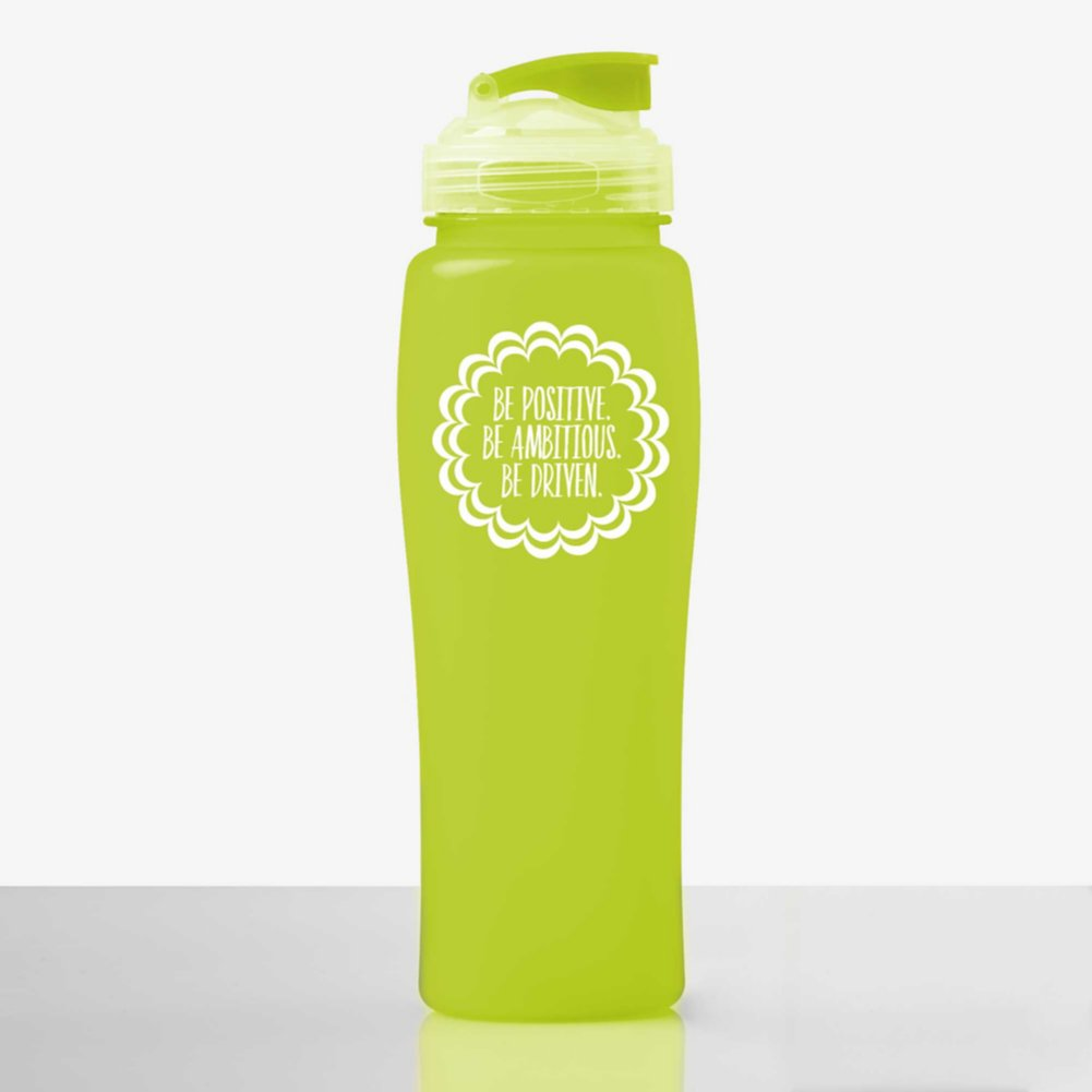 Fluorescent Value Water Bottle - Be Positive. Be Ambitious.