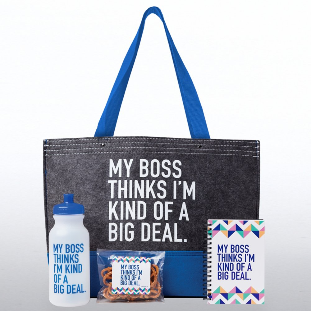 d563a3a53c87 Tote-ally Fantastic Gift Set - My Boss Thinks I m Kind Of... - Baudville