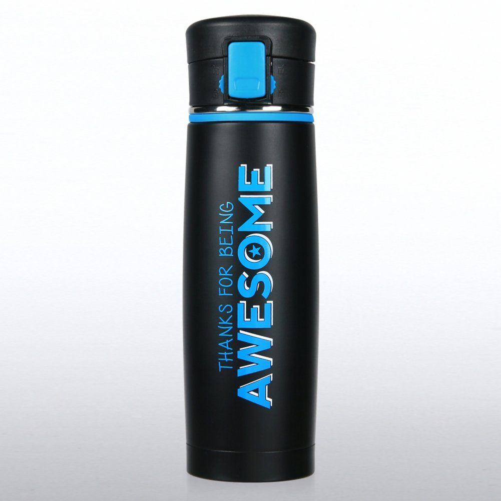 View larger image of Matte Black Stainless Steel Travel Mug - Thanks for Being
