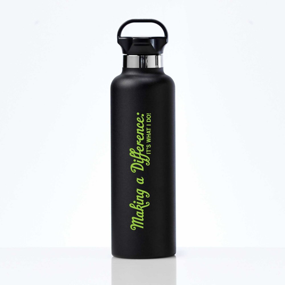 View larger image of Stealth Stainless Bottle - Making A Difference is What I Do