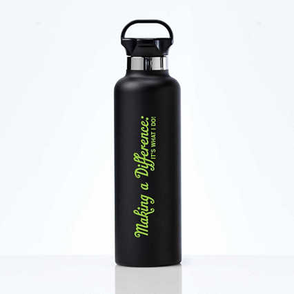 Stealth Stainless Bottle - Making A Difference is What I Do