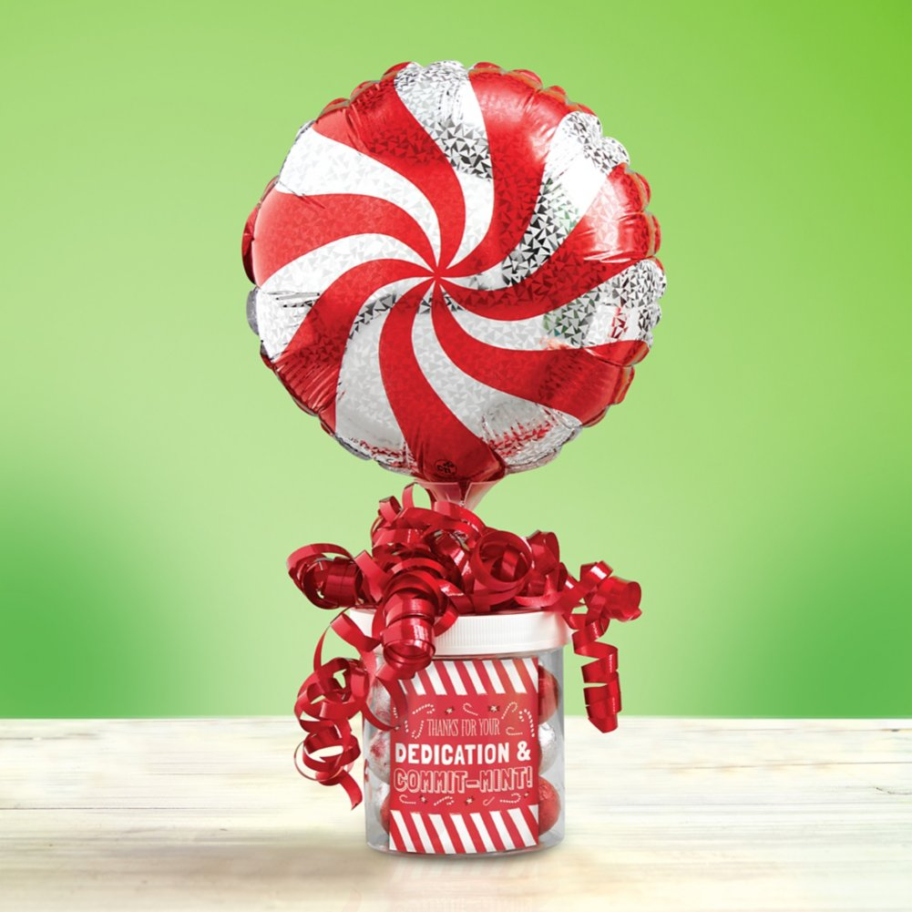 View larger image of Filled with Joy Balloon Bouquet - Peppermint