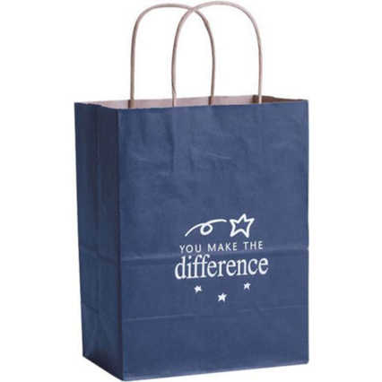 Kraft Paper Gift Bag - You Make the Difference Blue