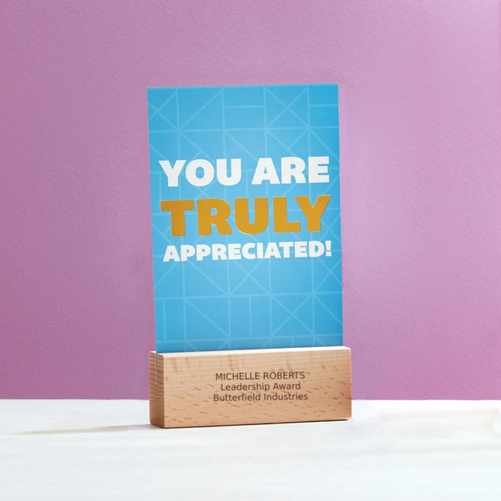 View larger image of Cheerful Photo Desk Stand - You Are Truly Appreciated