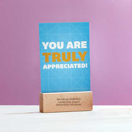 Cheerful Photo Desk Stand - You Are Truly Appreciated