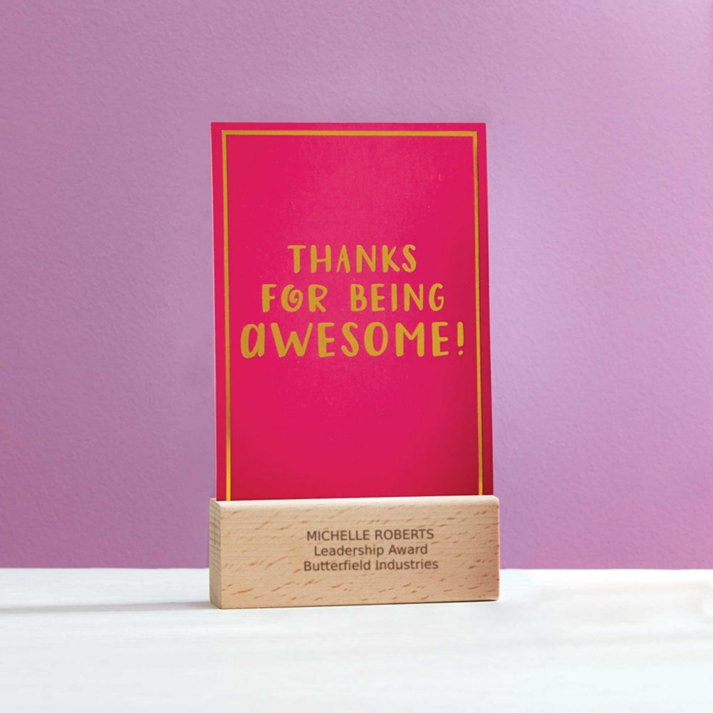 View larger image of Cheerful Photo Desk Stand - Thanks For Being Awesome