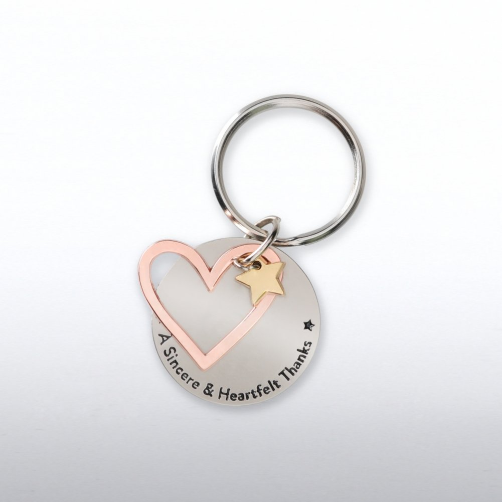 Charming Copper Keychain - Heart: A Sincere Heartfelt Thanks