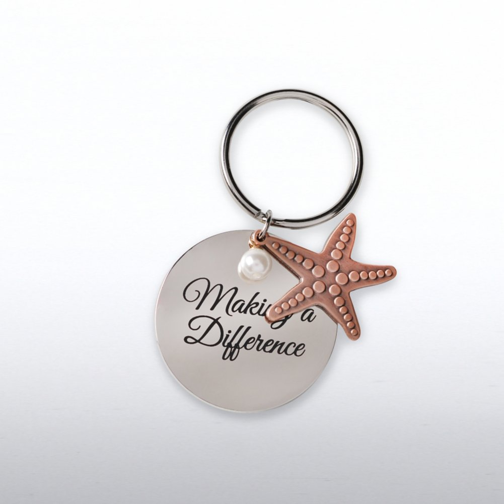 View larger image of Charming Copper Keychain - Starfish: Making a Difference