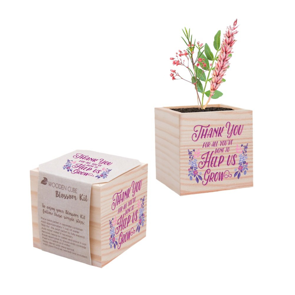 View larger image of Holiday Appreciation Plant Cube - Thank You for Helping Us Grow