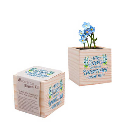 Holiday Appreciation Plant Cube - Your Efforts are Unforgettable
