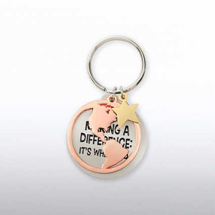 Charming Copper Key Chain - Making a Difference: What I Do