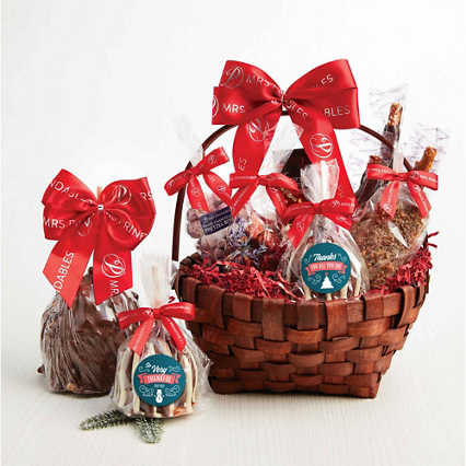 Hand-Dipped Caramel Apple Deluxe Basket