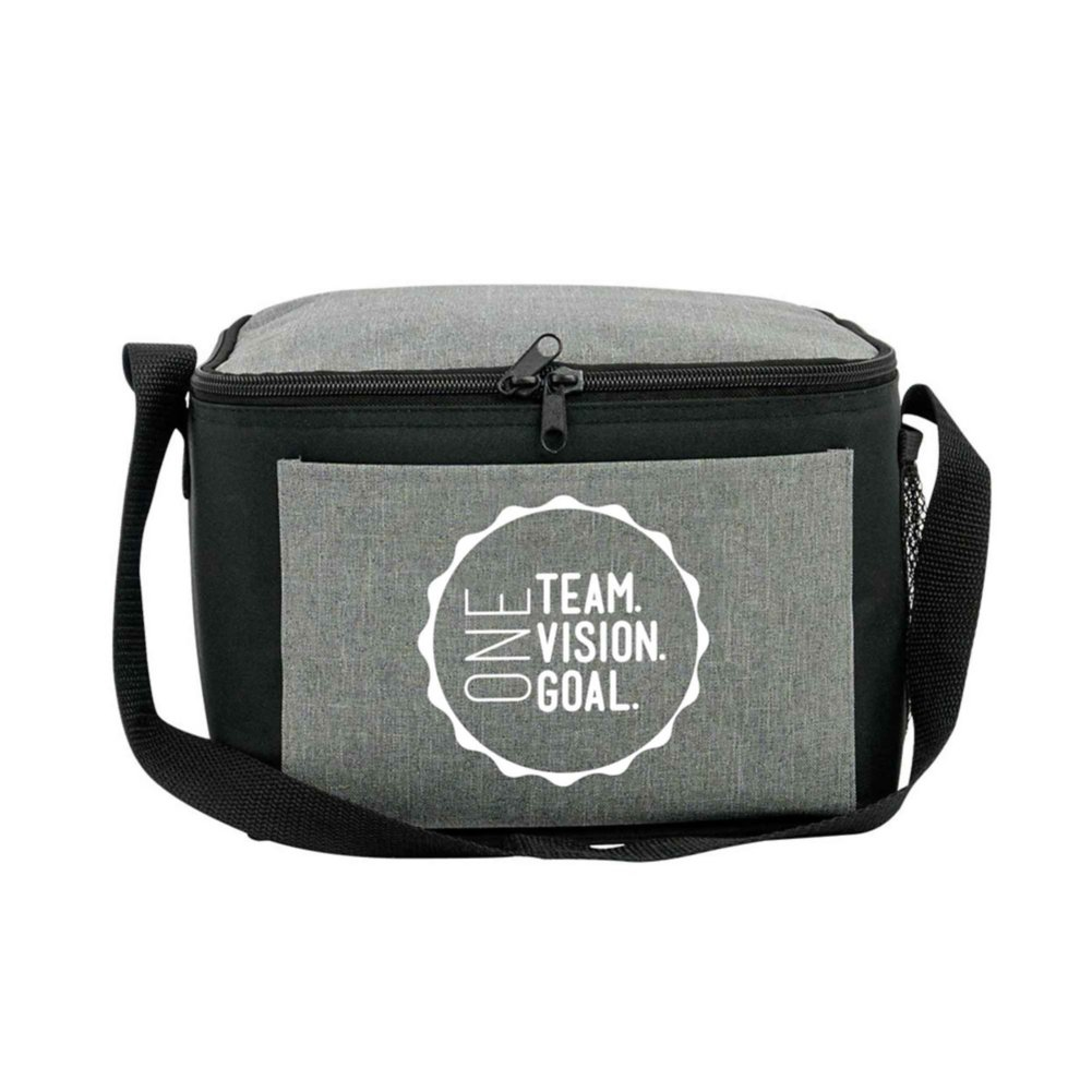 View larger image of Heathered Lunch Cooler Tote - One Team. Vision. Goal.