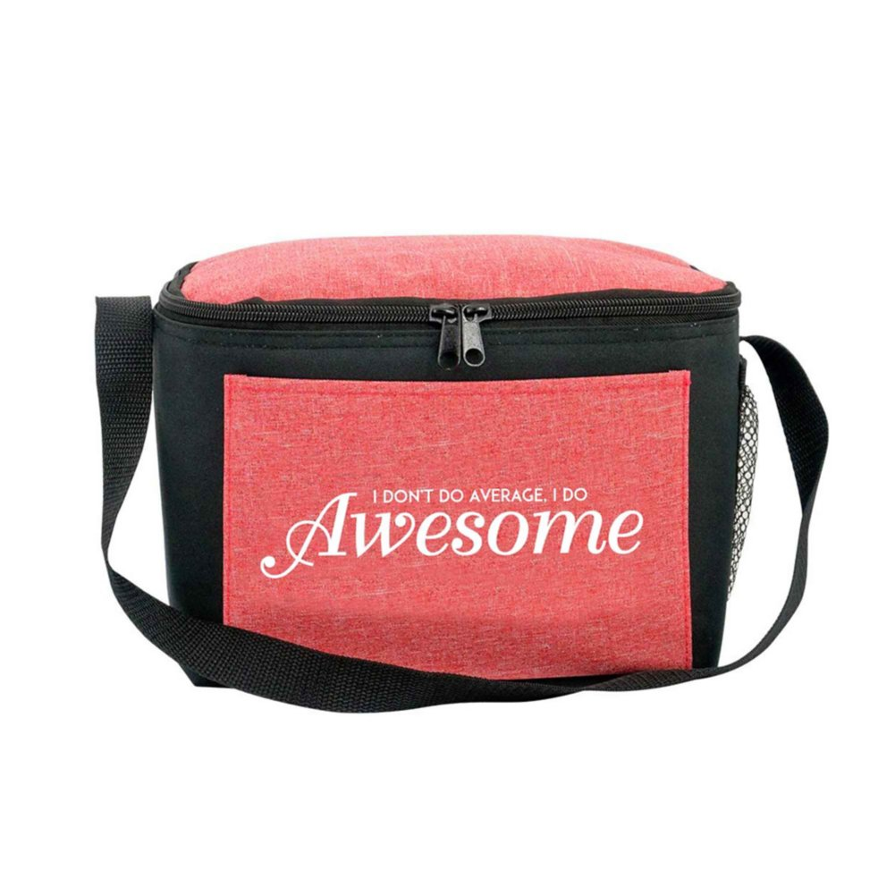 View larger image of Heathered Lunch Cooler Tote- I Don't Do Average I Do Awesome