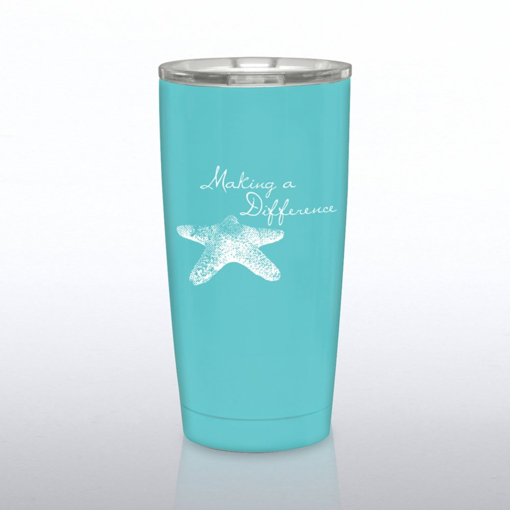 View larger image of The Betti Stainless Steel Travel Mug - Starfish: Difference