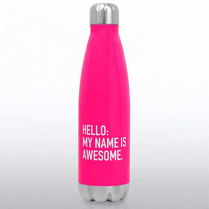 Neon Bowie Water Bottle - Hello, My Name is Awesome