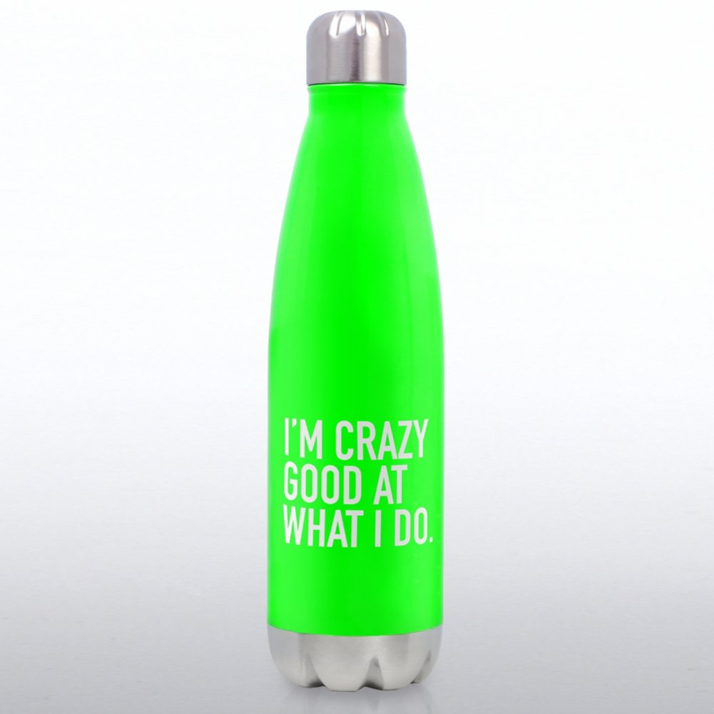 View larger image of Neon Bowie Water Bottle - I'm Crazy Good at What I Do