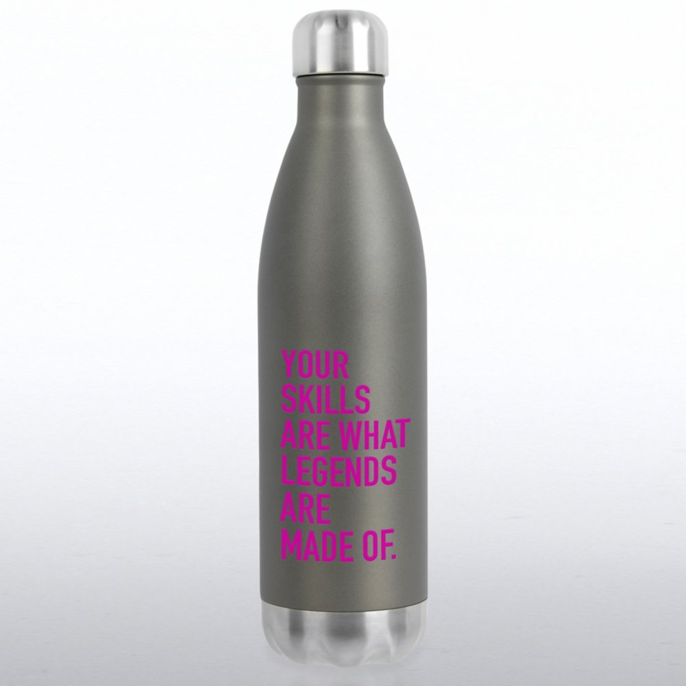 View larger image of Bowie Water Bottle -Your Skills are What Legends are Made of