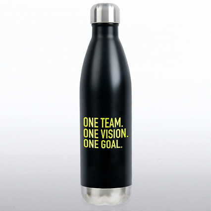 Bowie Water Bottle - One Team. One Vision. One Goal