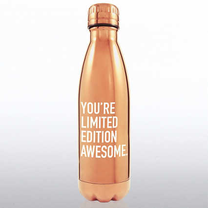 Metallic Bowie Water Bottle - You're Limited Edition Awesome