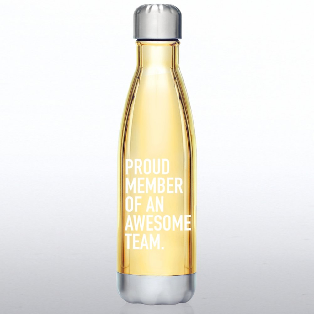 Metallic Bowie Water Bottle -Proud Member of An Awesome Team
