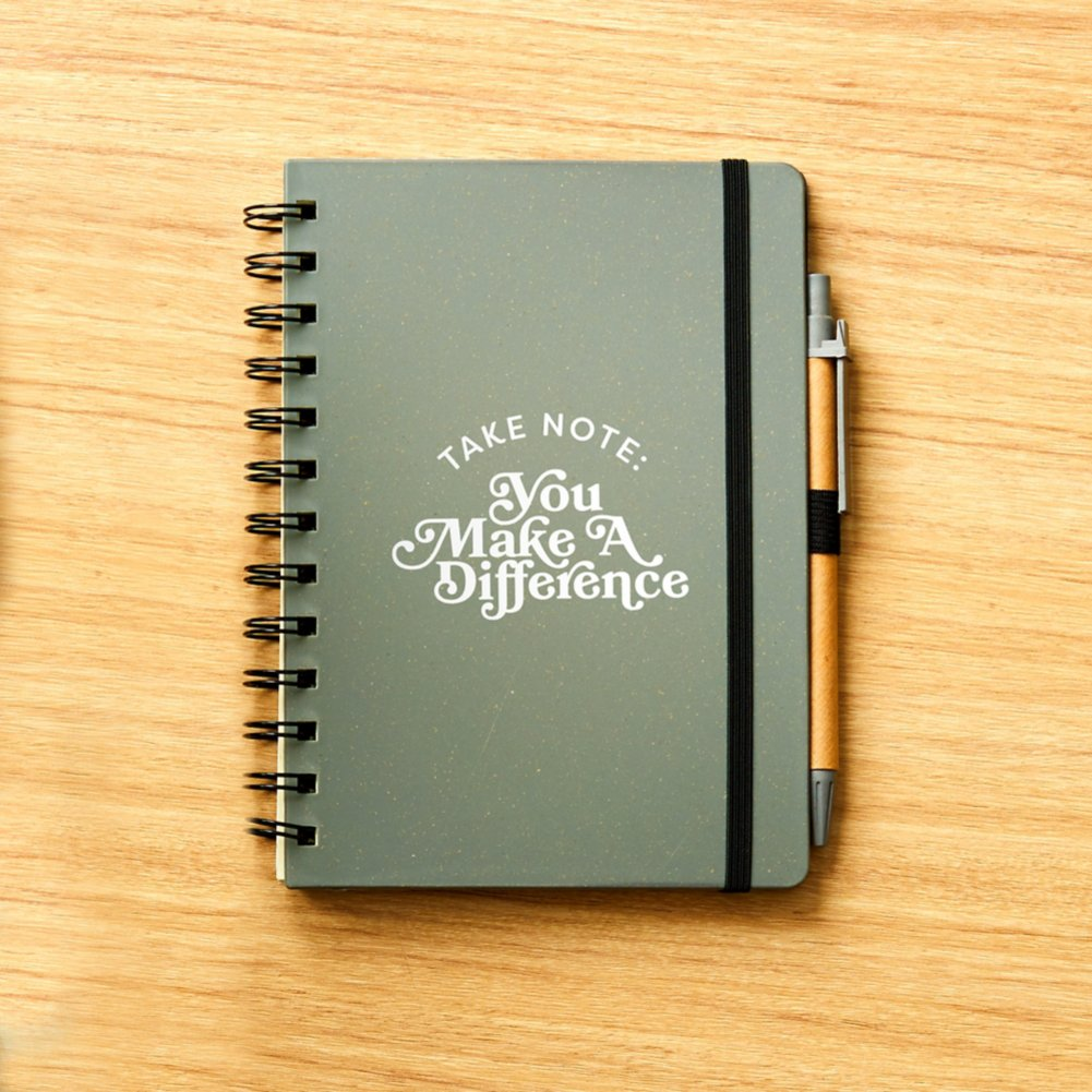 View larger image of Value Wheat Harvest Journal & Pen Set - Make A Difference