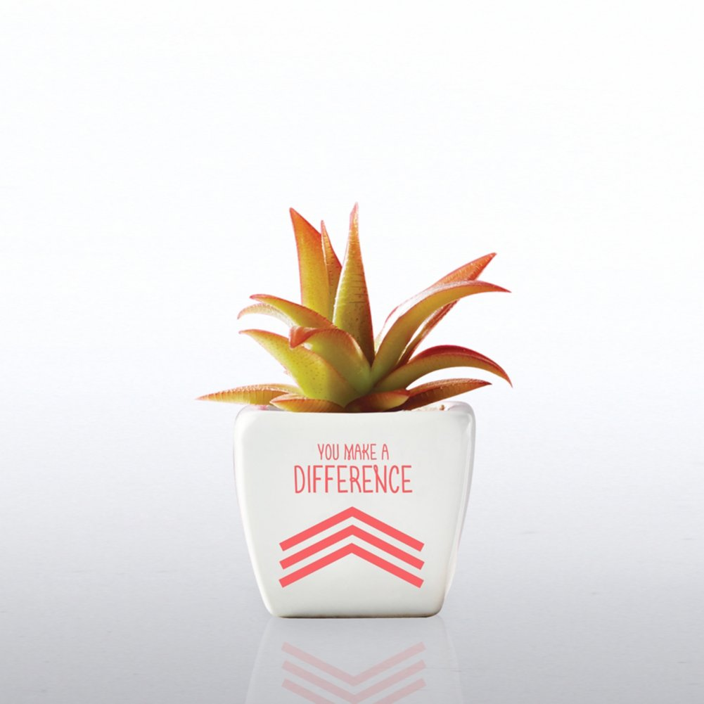 View larger image of Petite Faux Succulent - You Make A Difference!