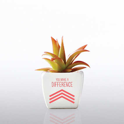 Petite Faux Succulent - You Make A Difference!