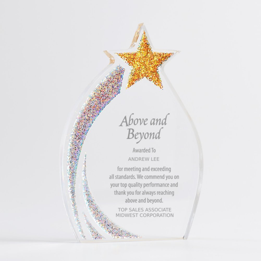 View larger image of Shimmering Acrylic Award - Star Flame
