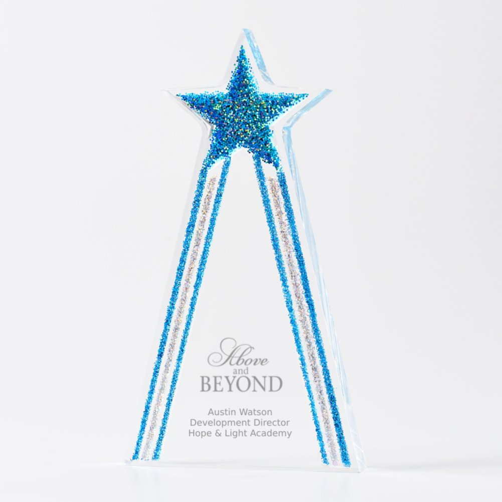View larger image of Shimmering Acrylic Award - Star Tower