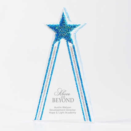 Shimmering Acrylic Award - Star Tower
