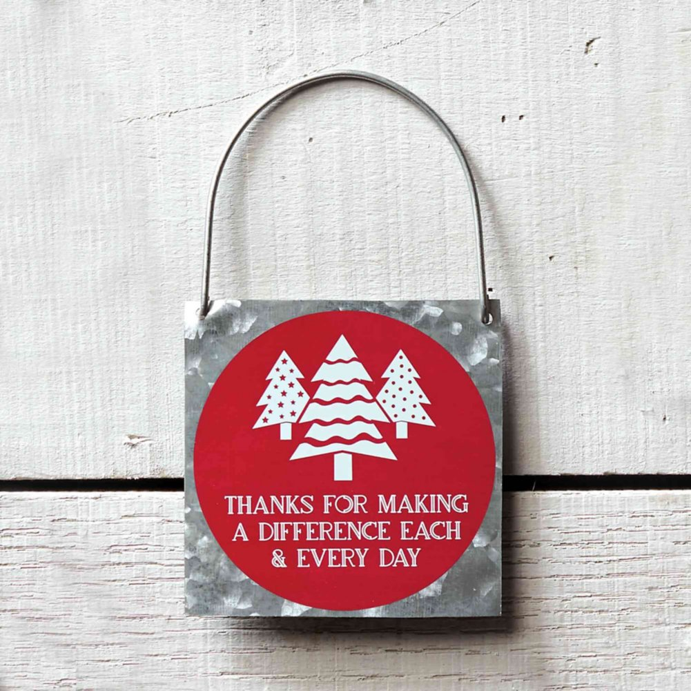 View larger image of Joyful Tin Ornament - Thanks For Making A Difference