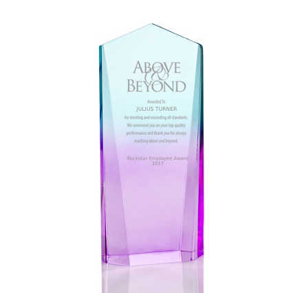 Ombre Acrylic Trophy Collection - Obelisk